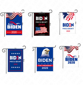 30 * 45CM ABD Seçim Biden Trump Mektupları Baskı Bahçe Bayraklar El Sinyal Bayrak Polyester 2020 Amerikan Bayrakları Bahçe Ev Dekorasyon D61602