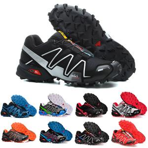 salomon speedcross 4 Drop Shipping Speed Cross 4 IV CS schwarz blau orange rot Outdoor-Schuhe Atmungsaktiv Mann Leichtathletik Mesh Fechten Schuhe Sport Sneaker
