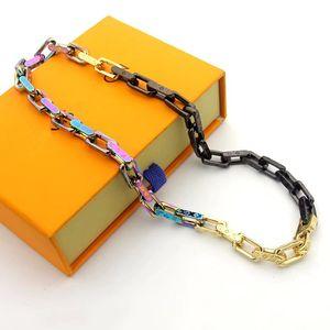 Монограмма цвета мужчины ледяной из нержавеющей стали письмо женщины красочные бамбуковые браслеты горный хрусталь Майами кубинский цепи хип-хоп V slub ожерелье