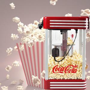 Fully automatic popcorn machine retro style popcorn machine 220v commercial mini home electric spherical popcorn machine can add sugar oil c