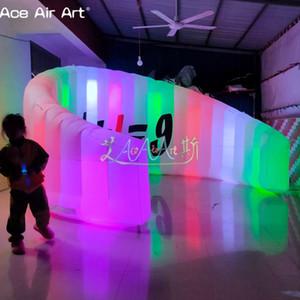 2020 Новый стиль привел фото стены надувных фото стенда, стенд диджей, выставка делитель с 10 шт прожекторов на скидке