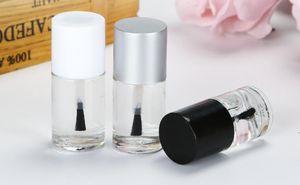 500pcs 10ml Qualitäts leere runde Form Nagellack-Flaschen UV-Cap Kleiner Pinsel Nail Art Behälterglas-Nagel-Kunst-Flaschen SN1143
