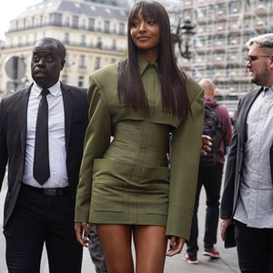 abito da sera temperamento spalla spessa fascia alta auto-coltivazione delle donne di moda