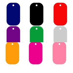 Aluminum Alloy 50*29mm Blank Army Dog Tags Military Pet Identity Tags Name Pendants Wholesale