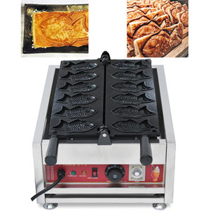 110 v 220 v Kruvasan Taiyaki Makinesi Balık Koni Makinesi Ticari Waffle Balık Kek Aperatifler Cihazı Elektrikli Taiyaki Makinesi