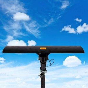 Açık AMPLİFİYE Anten Dijital HD TV ABD'den 20 ± 3dB UHF / VHF Balck Pratik Durabale Taşınabilir 350 Derece Dönme Gemi