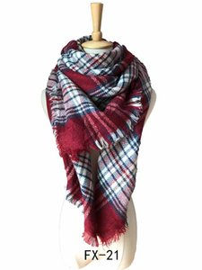 Europe In Autumn Winter Cashmere Increase Double Colorful Plaid Square Scarf Scarf Air Conditioning Shawl Wholesale