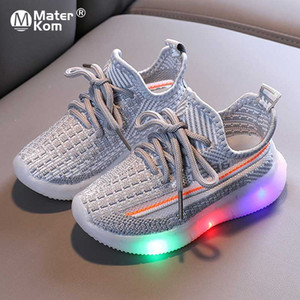 Size 21-30 Luminous Sneakers for Baby Breathable Glowing Shoes Children Led Light Up Shoes Unisex Sneakers with Luminous Sole