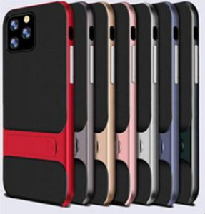 New Fashion Kickstand Phone Case for iphone 11 Pro Max XR 6 7 8 PC Holder TPU Shockproof Ultra Slim Hard Back Cover