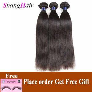 Straight Human Hair 3 Weave Bundles 8A Brazilian Virgin Hair Extensions Raw Indian Peruvian Malaysian Straight Remy Human Hair Wefts