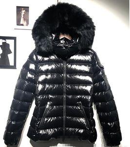 Branded Women Winter Fox Fur 95% White Duck Down Jacket Designer Lady Zipper Short Hooded Winter Outerwear Warm Coat
