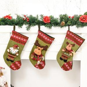 Amazon despiece Calcetines de Navidad bolsa de regalo Decoraciones de Navidad vieja grande hombre Elk calcetines caramelo colgantes