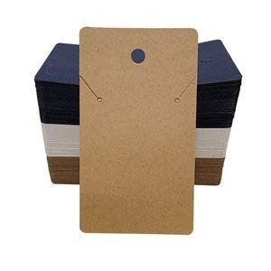 Takı Aksesuar Ekran Ambalaj Card opp ile Kraft Kağıt kolye Kart Bag 5x8.9cm Boş kolye Kart Takı Ambalaj Kartları