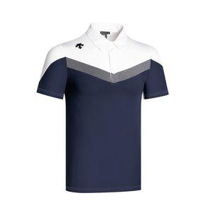 hommes de golf chemises été couleur unie Descente de golf vêtements courts vêtements de golf de loisirs manches séchage rapide Respirant t Shir 2020 T200701