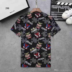19SS Camiseta de diseñador para hombre Cómodo tipo suelto Moda simple Camisetas transpirables para hombre Diseño de monstruo especial al por mayor