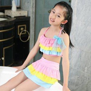 Prenses Cake etek 2019 kız çocuk pasta tek parça mayo kız mayo mayo etek