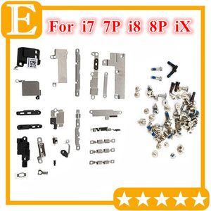 Full Set Small Metal Internal Bracket Kits Screw set Replacement for Iphone 7 8 8 Plus X PCB metal iron bracket Shield Plate