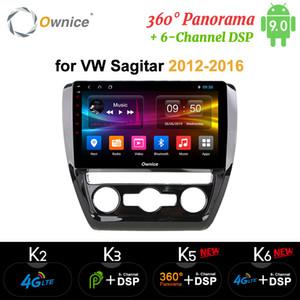 """2012 10,1"""" Android 9.0 8 çekirdekli 360 Panorama Araba Dvd Player için Volkswagen Sagitar Ownice - 2016"""