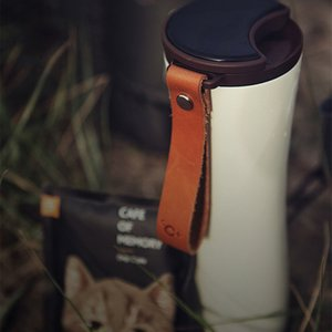 Travel Mug Moka Smart Coffee Tumbler 430Ml Portable Vacuum Bottle OLED Contact Screen Heat Preservation Stainless Steel Coffee C