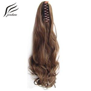 """Klaue Pferdeschwanz gewelltes synthetisches Haar 22 """"55cm 170g Blond Kastaniebraun Farbe Natürliche Pferdeschwanz Haarverlängerungen Haarteile"""
