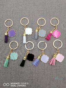 Püskül Anahtarlık 3 cm Anahtarlıklar Özelleştirilmiş Kişiselleştirilmiş Adının baş harfini Quatrefoil Adının baş harfini Süet Çok renkli rastgele Butik A110402