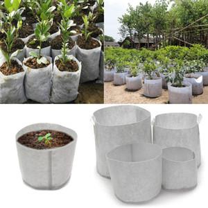 Vlies Baum Stoff Töpfe wachsen Tasche Wurzel Container Pflanze Beutel weiße Hand mit Blumen Vlies Taschen pflanzen wächst Kultur DLH153