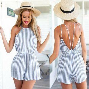 Frauen-Feiertags-Minispielanzug-Overall-Spielanzug-Sommer-Strand-beiläufige Kurzschluss-Kleid