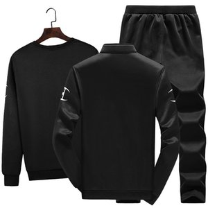 Men's sportswear is a new cross-border sportswear and autumn sweaters are fashionable and handsome three-piece sets babydolls 417