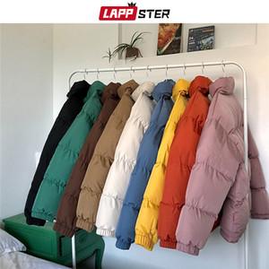 LAPPSTER Erkekler Komik Renkli Kabarcık Coat Kış Ceket 2019 Mens Streetwear Hip Hop Parka Erkek Kore Siyah Elbise Puffer Ceket MX191121