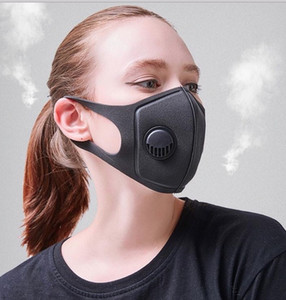 Ship 24hour Designer Face Mask with Breathing Valves Washable Reusable Cloth Kids Adult Masks Cotton Black Mascarillas Protective Face Mask