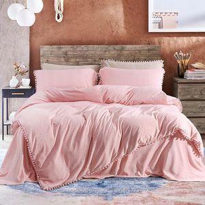 king size Rainha Pink Princess Bedding Set lã quente Flat Bed conjunto Folha de cama edredon cobrir cabido folha fronha parure de lit