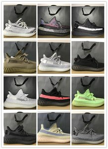 New Cinder Yecheil Yeshaya Black Static Reflective Kanye West Men Running Shoes Cloud White Earth Clay Zebra Beluga Women Trainer Sneakers