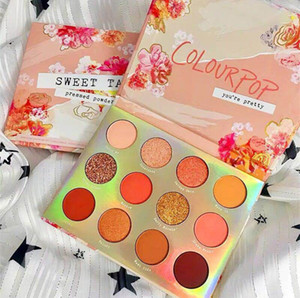 Mode étanche Colourpop Ombre à paupières Maquillage 12 couleurs Coral Sweet Talk Shimmer Matte Poudre Pressée palette yeux Maquillage yeux Long Lasting