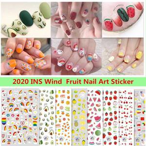 Fruit Adhesive 3D Nail Sticker Foil Decals For Nails Sticker Art Avocado watermelon Lemon Grape Cherry Nail Art Decorations