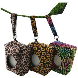 Material de buceo caja de pañuelos Venta caliente leopardo girasol cebra impreso bebé caja de pañuelos húmedos cajas de pañuelos de viaje al aire libre T9I00187