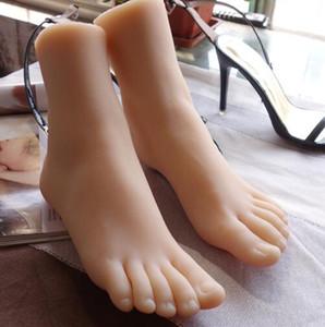 38 grasso vero e proprio femminile di alta qualità del gel sexy mannequin bambola del piede Fotografia silicone calze di seta gioielli modello morbido silice 2PC / lot C727