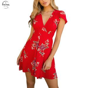 Vestito Da Estate Delle Donne Sexy Womens Dress Womens Dress Beach Party Sunshine Summer Fashion Stampato