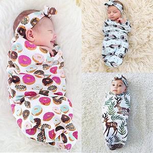 Niño recién nacido de Wrap Saco de dormir diadema Envolver Manta toalla de empañar la bolsa Bunting