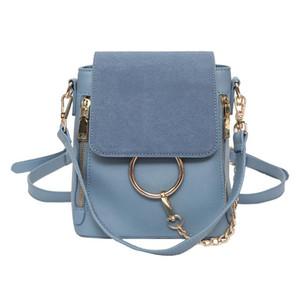 2019 Европа модный бренд дизайнер женщины Backapck скраб искусственная кожа женские сумки мини сумка женские рюкзаки S130