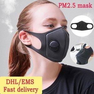 DHL Versand Maske 3D Stereo Aktivkohle Maske Filter Anti PM2. 5 Anti Smog Schützen Mund Gesichtsmaske Schutz ohne Luft