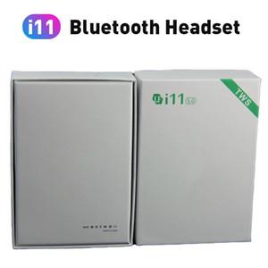 I11 TWS Wireless Bluetooth 5.0 سماعات أذن سماعات سماعات سمعية صغيرة مع ميكروفون لـ Samsung S6 S8 Xiaomi Huawei Lg كل الهاتف الذكي