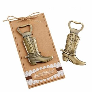 Diseño de la novedad Vintage Bronce Aleación Cowboy Boot forma abridor de botellas Personalidad Bar Herramienta de la cocina Soda Beer Bottle Cap Abridor