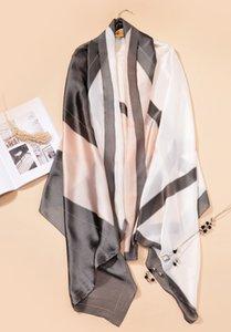 Новый роскошный шелковый шарф женский роскошный дизайн бренда печатает имитацию шелковицы шелковый пляж солнца подарок