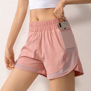 BINAND Mesh-Shorts Taschen Yoga Shorts Double Layer Gym Short Quick Dry Running Short Lockere Fitnesstraining