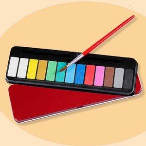 Katı sulu boya sanat malzemeleri el boyaması grafiti kek boya boyama boya gouache 13 renk