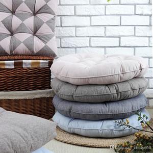 Cuscini per sedie Sala da pranzo casa Divano tiro cuscino tappetino Sedia da ufficio cuscino del sedile Seduto Outdoor Furniture rotondi 48cm 53cm Pad 4 colori