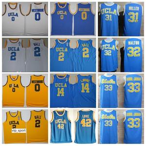 Russell Westbrook College Jersey UCLA Bruins Baloncesto Lonzo Ball 2 Kevin Love 42 Kareem Abdul Jabbar 33 Zach LaVine 14 Azul Blanco Amarillo