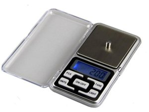 Free DHL 100pcs lot 200g 0.01g digital pocket scale LCD display blue backlight