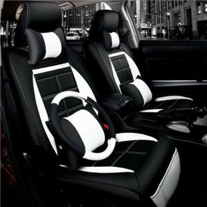 جديد بو الجلود مقعد السيارة وسادة 11 قطعة / المجموعة لجميع السيارات + غطاء عجلة القيادة