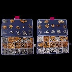 1 علبة مجوهرات جعل العثور أطقم Earringss DIY مختلطة المواد كيت قلادة اليدوية جعل أداة زينة